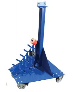 Bead Roller Stand with Integrated Roll Holders and Locking Casters