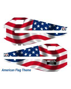 "36"" Bead Roller American Flag Vinyl Wrap (Set)"