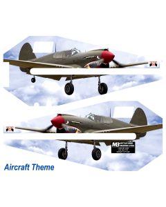 "36""  Bead Roller Aircraft Theme Vinyl Wrap (Set)"