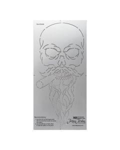 Bearded Skull Bead Roll Template