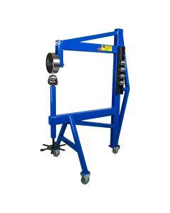 "Floor Model English Wheel  w/ 3"" x 9"" OD Upper Wheel"