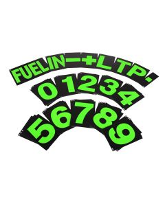 B-G Racing Standard Pit Board Number Set - Green