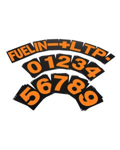B-G Racing Standard Pit Board Number Set - Orange