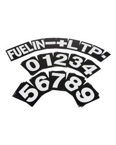 B-G Racing Standard Pit Board Number Set - White