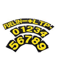 B-G Racing Standard Pit Board Number Set - Yellow