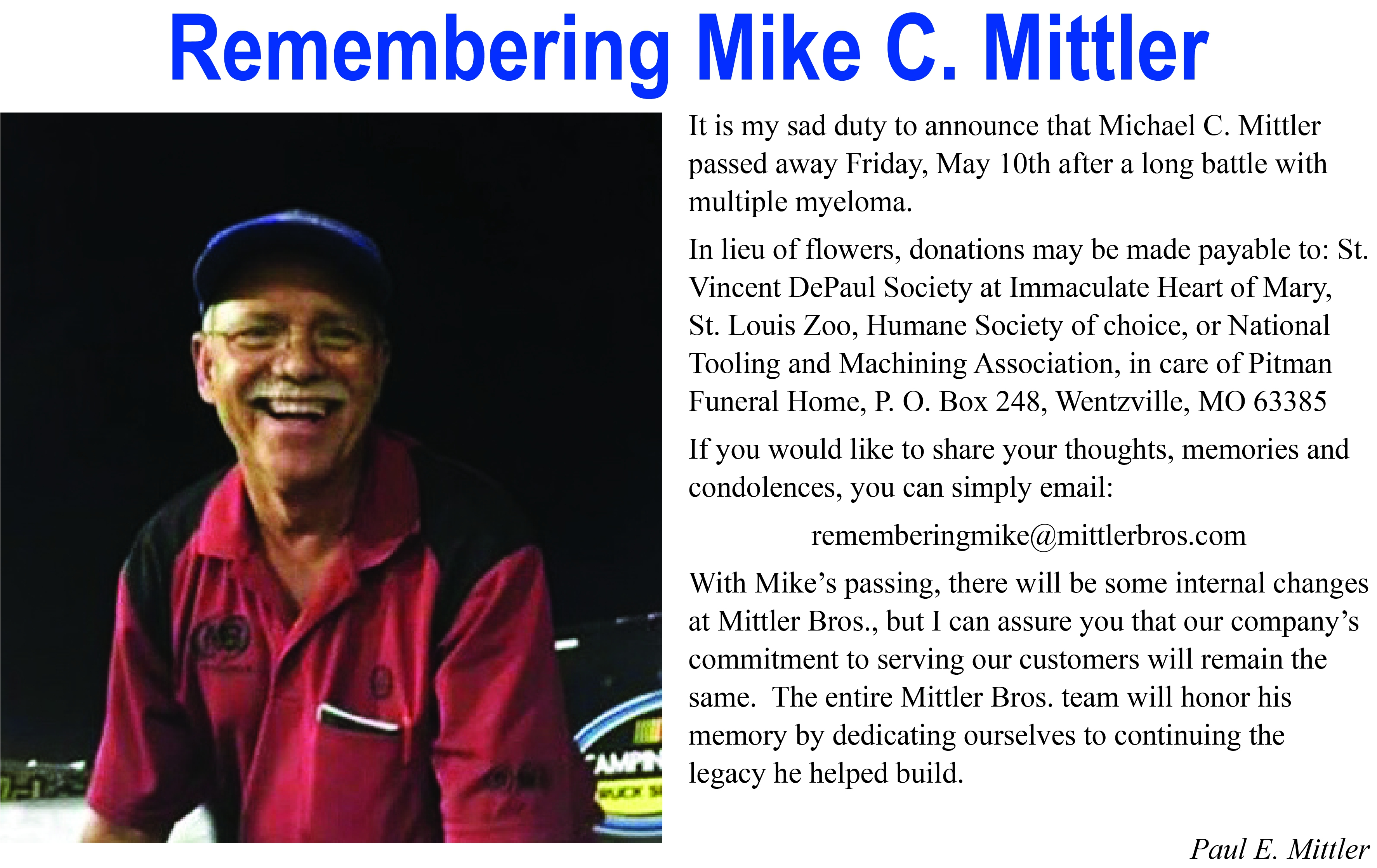 Remembering Mike C. Mittler